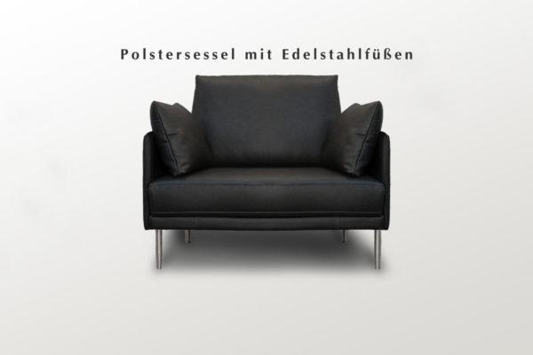 Moderner Sessel mit Lederpolsterung