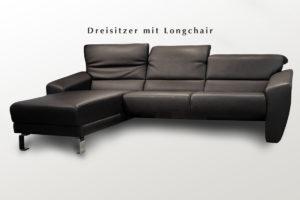 Ledercouch Longchair