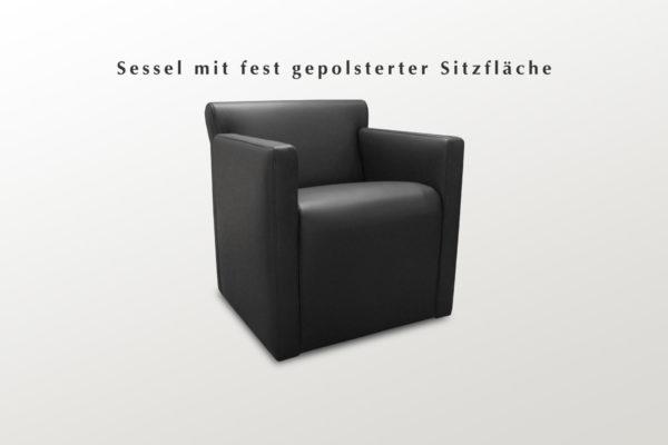 Sessel mit PVC-Gleitern