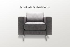 Sessel mit breiten Armlehnen
