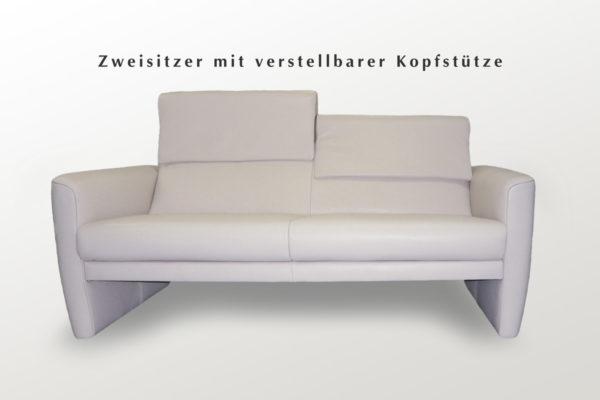 Zweisitzer Einzelsofa in weiß