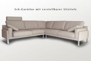 Ecklösung mit einstellbarer Sitztiefe