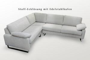 Weißes Sofa Eckgarnitur mit Stoffbezug