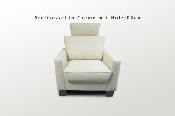Stoffpolstersessel in weiß